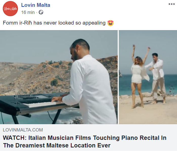 Nullo die sine nota on Lovin Malta press clip