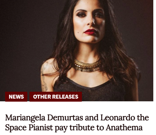 Pressclip by Metal Goddesses about the tribute to Anathema by Leonardo the Space Pianist and Mariangela Demurtas