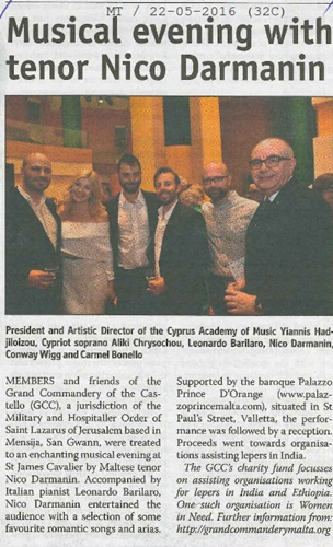 Times of Malta press clip