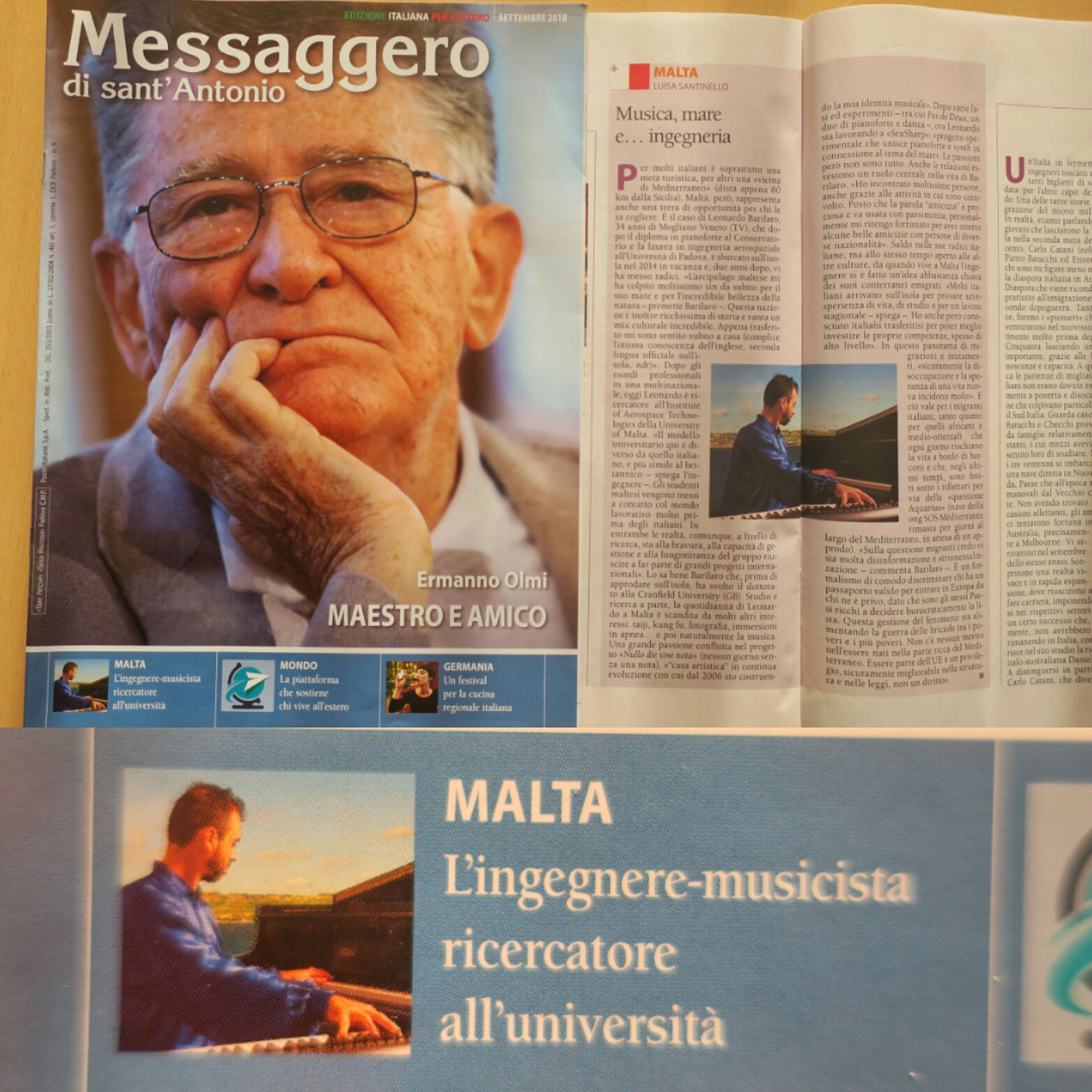 Nullo die sine nota on Messaggero di St.Antonio press clip
