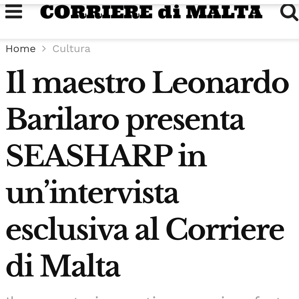 SeaSharp Premiere concert on Corriere di Malta