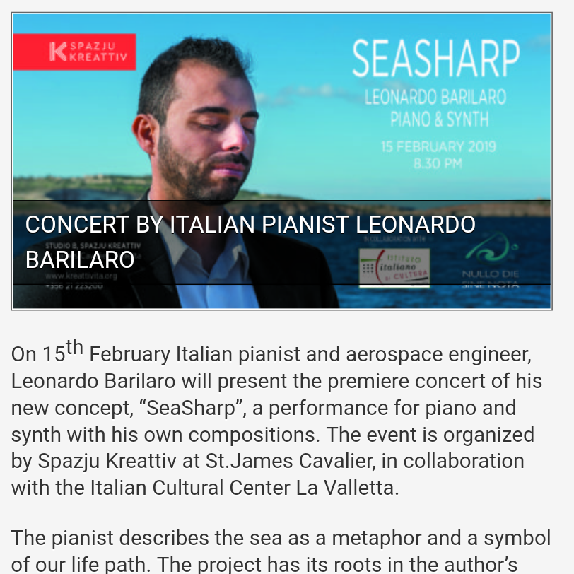 SeaSharp Premiere concert on JosanneCassar.com