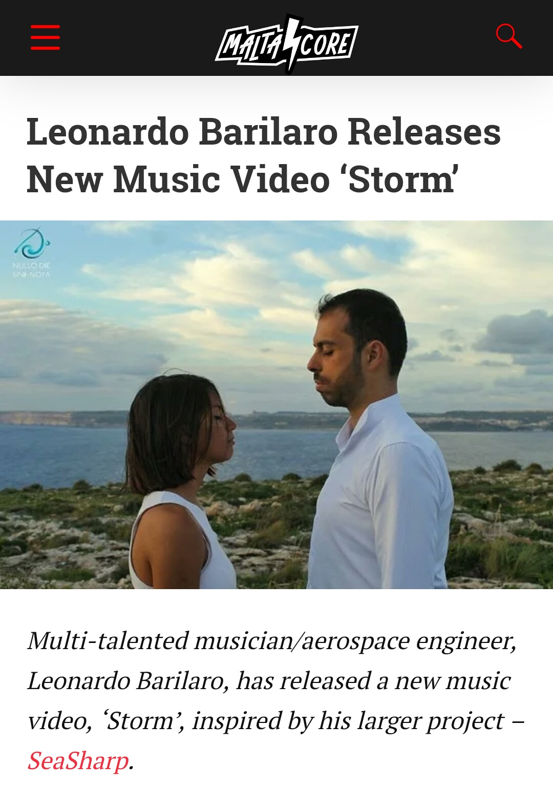 Storm videoclip on MALTA CORE MUSIC
